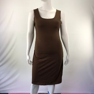 Sleeveless Bodycon XL Knee Length Shift Dress